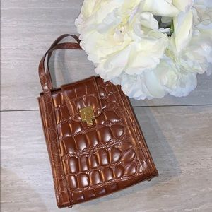 Francesco biasia Croco Brown leather